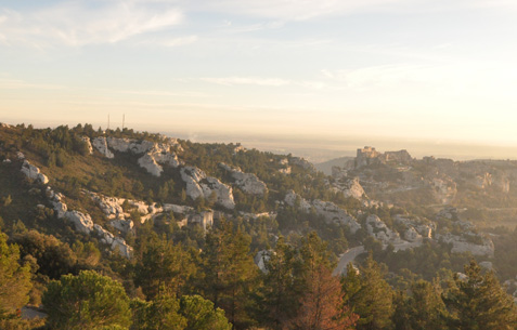 Vue des Alpilles - photo : rhinoferos